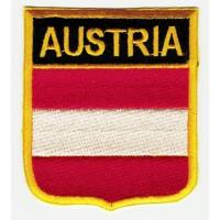 Patch embroidery SHIELD FLAG AUSTRIA 6cm x 7cm
