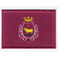 Patch textile and embroidery FLAG TERUEL 7CM x 5CM