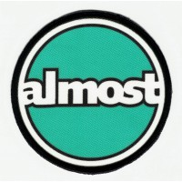 ALMOST textile embroidery patch 7.5cm