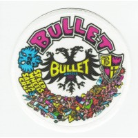BULLET SANTA CRUZ textile embroidery patch 7.5cm