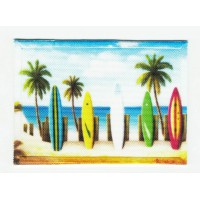 SURF BOARDS textile embroidery patch 7cm x 5cm