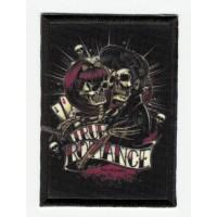 Parche bordado y textil ROCKABILLY 7,5cm