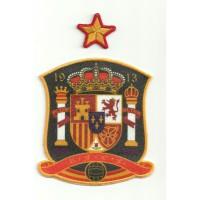 Parche bordado y textil SELECCION ESPAÑOLA Y ESTRELLA 9cm x 10cm