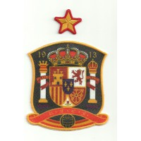 Textile and embroidery patch SPANISH SELECTION AND STAR 9cm x 10cm