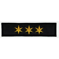 Patch embroidery GALLON 3 STAR BLACK 10c, x 2.4cm