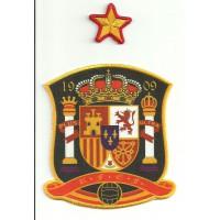 Parche bordado y textil SELECCION ESPANOLA 1909 Y ESTRELLA 9cm x 10cm