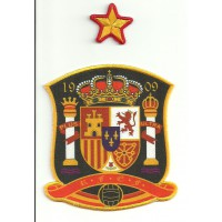 Textile and embroidery patch SPANISH SELECTION 1909 & STAR 9cm x 10cm