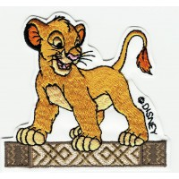 Parche bordado SIMBA EL REY LEON 8cm x 8cm