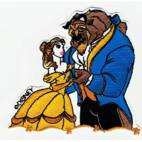 Patch embroidery Beauty and the Beast 10cm x 9cm