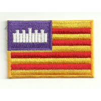 Patch embroidery FLAG BALEARES 7cm x 5cm