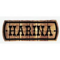 Parche bordado MADERA HARINA 9cm x 3cm