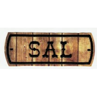 Embroidered patch WOOD SALT 9cm x 3cm