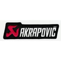 Parche bordado AKRAPOVIC BLANCO 9,5cm x 3cm