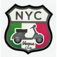 Embroidered patch VESPA CLUB NYC 7.5cm X 8cm