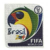 Textile patch BRASIL 2014 6CM X 6,7CM
