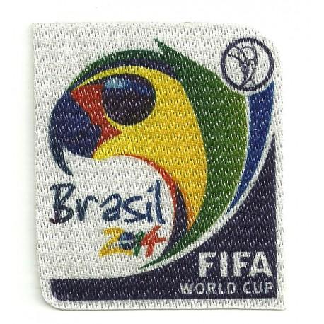 Parche textil BRASIL 2014 6CM X 6,7CM