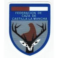 Parche textil y bordado FEDERACION DE CAZA DE CASTILLA LA MANCHA 6cm x 7.5cm
