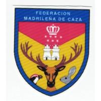 Parche textil y bordado FEDERACION MADRILEÑA DE CAZA 6,5cm x 7.5cm