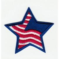 Parche bordado ESTRELLA AMERICANA 4,5cm X 4,5cm