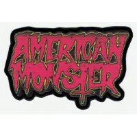Textile and embroidery patch AMERICAN MONSTER 8.5cm x 6.5cm