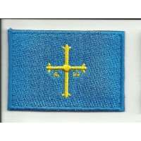 Patch embroidery FLAG ASTURIAS 7CM X 5CM