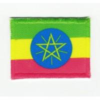 Parche bordado y textil ETIOPIA 7cm x 5cm