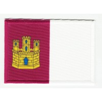 Patch embroidery and textile FLAG LA MANCHA 7CM X 5CM