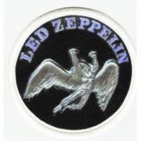 Parche bordado y textil LED ZEPPELIN 7cm