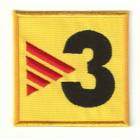 embroidery patch TV3 6,3cm x 6,3cm