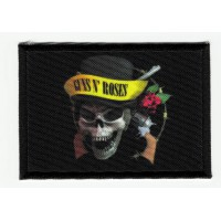 Patch embroidery and textile FLAG SKULL GUNS N ROSES 7cm x 5cm