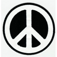 embroidery patch PEACE B/N 7,5cm