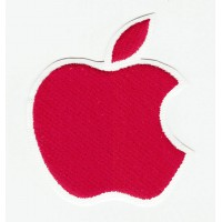 embroidery patch APPLE RED 5cm x 6cm