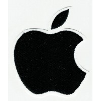 embroidery patch APPLE BLACK 5cm x 6cm