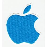 embroidery patch APPLE BLUE 5cm x 6cm