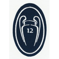 Embroidery patch 10 CUPS CHAMPIONS REAL MADRID NUEVO 5CM X 7,5cm