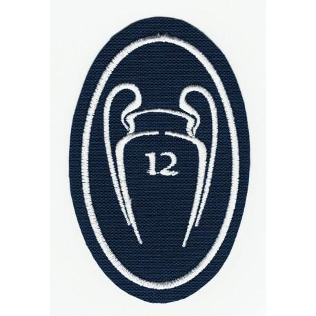 Parche bordado 10 COPAS CHAMPIONS REAL MADRID NUEVO 5cm x 7,5cm