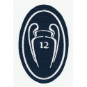 Embroidery patch 12 CUPS CHAMPIONS REAL MADRID 5cm X 7,5cm