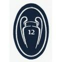 Parche bordado 12 COPAS CHAMPIONS REAL MADRID LA DUODÉCIMA 5cm x 7,5cm