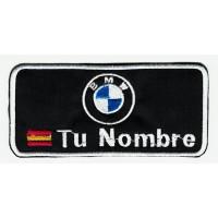 Parche bordado BMW TU NOMBRE BANDERA 10cm X 4.5cm NAMETAPE