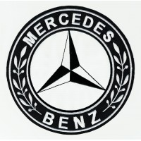 Patch embroidery MERCEDES BENZ 4,5cm