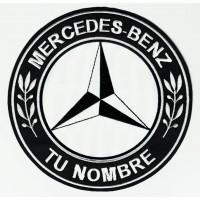 Parche bordado MERCEDES BENZ TU NOMBRE 4,5cm