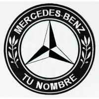 Patch embroidery MERCEDES BENZ YOUR NAME 4,5cm