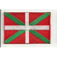 Patch embroidery FLAG IKURRIÑA (Pais Vasco) 4cm x 3cm