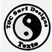 Patch embroidery SURF DESIGNS YOUR TEXT 7.5cm