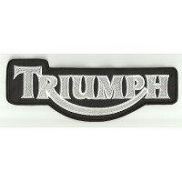 Patch embroidery TRIUMPH BLANCO Y NEGRO 15cm x 6cm
