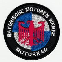Parche bordado BMW BAYERISCHE MOTOREN WERKE MOTORRAD AZUL 7,5cm