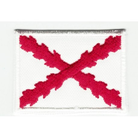 Patch embroidery BURGUNDY CROSS FLAG OR ST  ANDREW FLAG 7CM x 5CM - Los  Parches