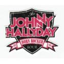 Parche textil JOHNNY HALLYDAY 8cm x 6,5cm