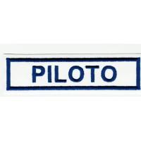 Parche bordado PILOTO 10,5m x 3cm