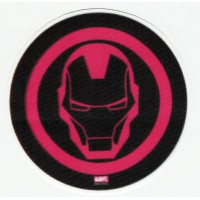 IRON MAN textile patch black 8cm